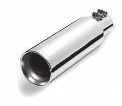 Gibson Performance Exhaust - Stainless Double Walled Straight Exhaust Tip #500542