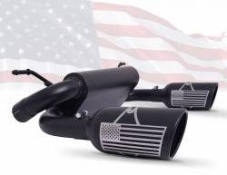 Gibson Performance Exhaust - Patriot Series Dual Split Exhaust, Black Ceramic #70-0001
