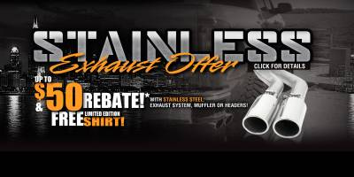 Gibson Stainless Exhaust Offer