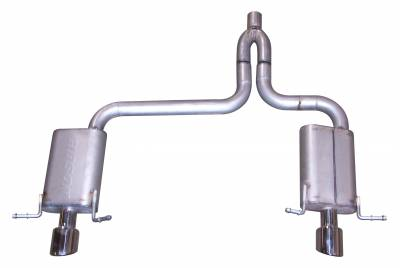 Gibson Performance Exhaust - Dual Split Exhaust System, Aluminized #316521