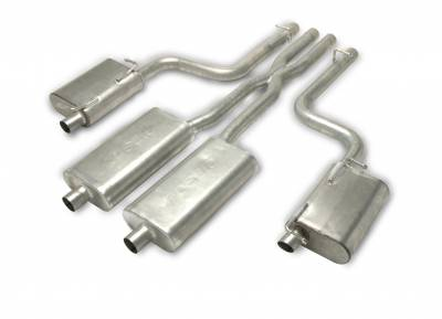 Gibson Performance Exhaust - Dual Exhaust System, Aluminized #317008