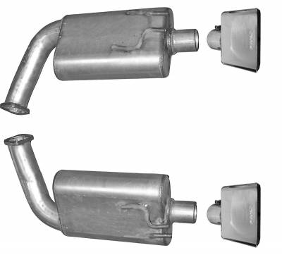 Gibson Performance Exhaust - Axle Back Dual Exhaust System, Aluminized #318002