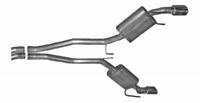 Gibson Performance Exhaust - 2010 Camaro SS  6.2L, Dual Exhaust, Aluminized, #320002