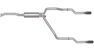 Gibson Performance Exhaust - Dual Split Exhaust System, Aluminized #5505