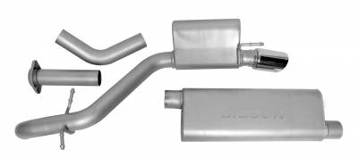 Gibson Performance Exhaust - Single Exhaust  Stainless, #617403
