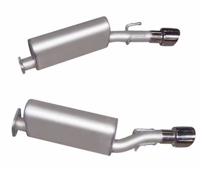 Gibson Performance Exhaust - 05-06 Pontiac GTO 6.0L, Axle Back Dual Exhaust  Stainless, #618000