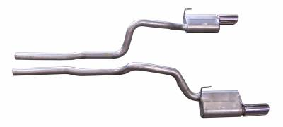 Gibson Performance Exhaust - 05-10 Ford Mustang GT Shelby 5.4L, Dual Exhaust  Stainless, #619006