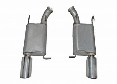 Gibson Performance Exhaust - 11-12 Ford Mustang GT Shelby  5.4L, Axle Back Dual Exhaust  Stainless, #619010