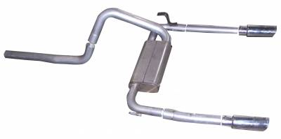 Gibson Performance Exhaust - Dual Exhaust System, Stainless #620000