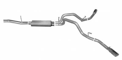 Gibson Performance Exhaust - 14-18 Silverado/ Sierra 1500 5.3L Pickup, Dual Extreme Exhaust  Stainless, #65658