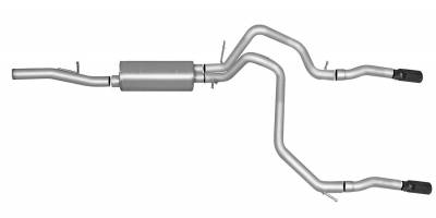 Gibson Performance Exhaust - Dual Split Exhaust System, Stainless #65669