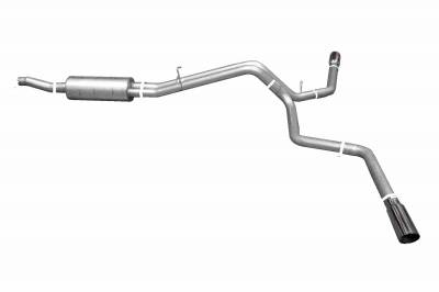 Gibson Performance Exhaust - 98-03 Ford F150 4.2L-4.6L-5.4L, Dual Extreme Exhaust  Stainless, #69001