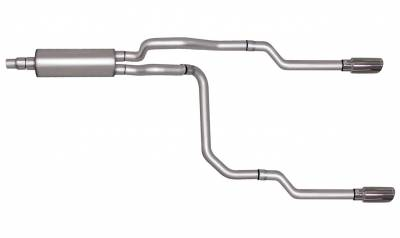 Gibson Performance Exhaust - Dual Split Exhaust System, Aluminized #9500