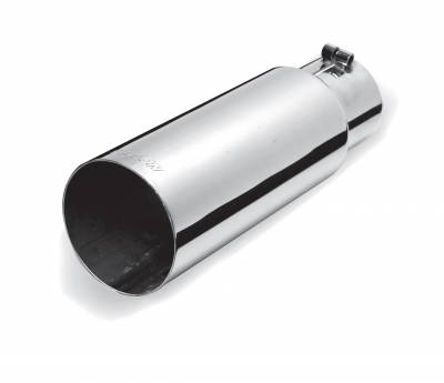 Gibson Performance Exhaust - Stainless Single Wall Straight Exhaust Tip, #500362