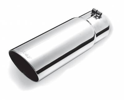 Gibson Performance Exhaust - Stainless Single Wall Angle Exhaust, Tip, #500401