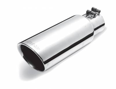 Gibson Performance Exhaust - Stainless Double Walled Angle Exhaust, Tip, #500417