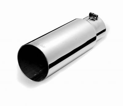 Gibson Performance Exhaust - Stainless Rolled Edge Angle Exhaust, Tip, #500639