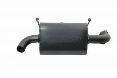 Gibson Performance Exhaust - Polaris UTV Single Exhaust, Black Ceramic #98017