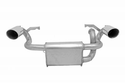 Gibson Performance Exhaust - Polaris UTV Dual Exhaust, Stainless #98023
