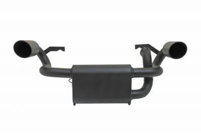 Gibson Performance Exhaust - Polaris UTV Dual Exhaust, Black Ceramic #98024