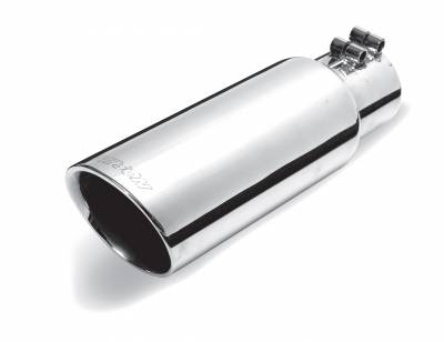 Gibson Performance Exhaust - 3.50in.  Polished Stainless Round Angle Cut  Double Wall #500434