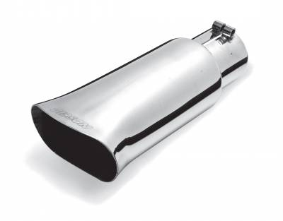 Gibson Performance Exhaust - 3.50in. Polished Stainless Rectangular Angle cut Tip#500541