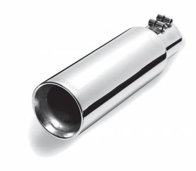 Gibson Performance Exhaust - 3.50in.  Polished Stainless Round Cut Double Wall, #500544