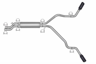 Gibson Performance Exhaust - Black Elite Dual Extreme Exhaust System, Stainless #65009B