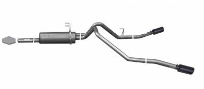 Gibson Performance Exhaust - 03-06 Toyota Tundra 3.4L-4.7L, Black Elite Dual Extreme Exhaust  Stainless, #67500B