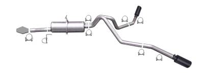 Gibson Performance Exhaust - Black Elite Dual Extreme Exhaust  Stainless, #69004B