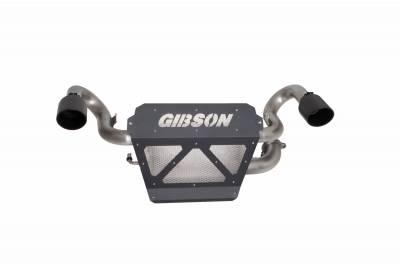 Gibson Performance Exhaust - 20-21  Polaris RZP PRO XP 1000, Dual Exhaust, Black Ceramic, #98047