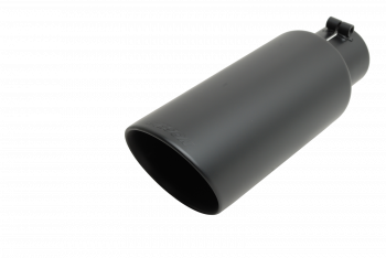 Exhaust Tip - Black Ceramic Tip - Double Walled Angle Tip