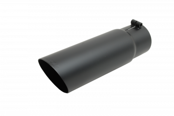 Exhaust Tip - Black Ceramic Tip - Single Wall Angle Tip