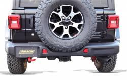 Gibson Performance Exhaust - 18-20 Jeep Wrangler 3.6L Black Elite Single Exhaust Black Ceramic, #617308-B - Image 3