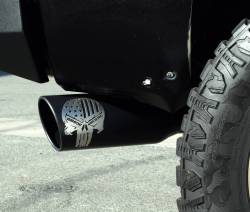 Gibson Performance Exhaust - 11-14 Ford Raptor 6.2L Pickup, Patriot SKull Single Exhaust  Stainless, #76-0017 - Image 3