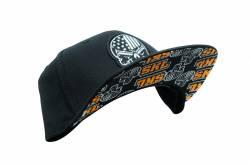 Gibson Performance Exhaust - Gibson Skull  Black Hat, Snap Back #HA-804 - Image 3