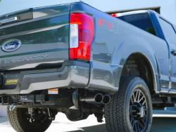 Gibson Performance Exhaust - 2020 Ford F250/F350 7.3L, Black Elite Dual Sport Exhaust,  Stainless, #69135B - Image 1