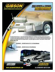 Gibson Performance Exhaust - 16-22 Ford Class A  Motorhome, F53 Chassis, 6.8L V-10 / 7.3L Gas, Single Exhaust, Stainless, #956011S - Image 4